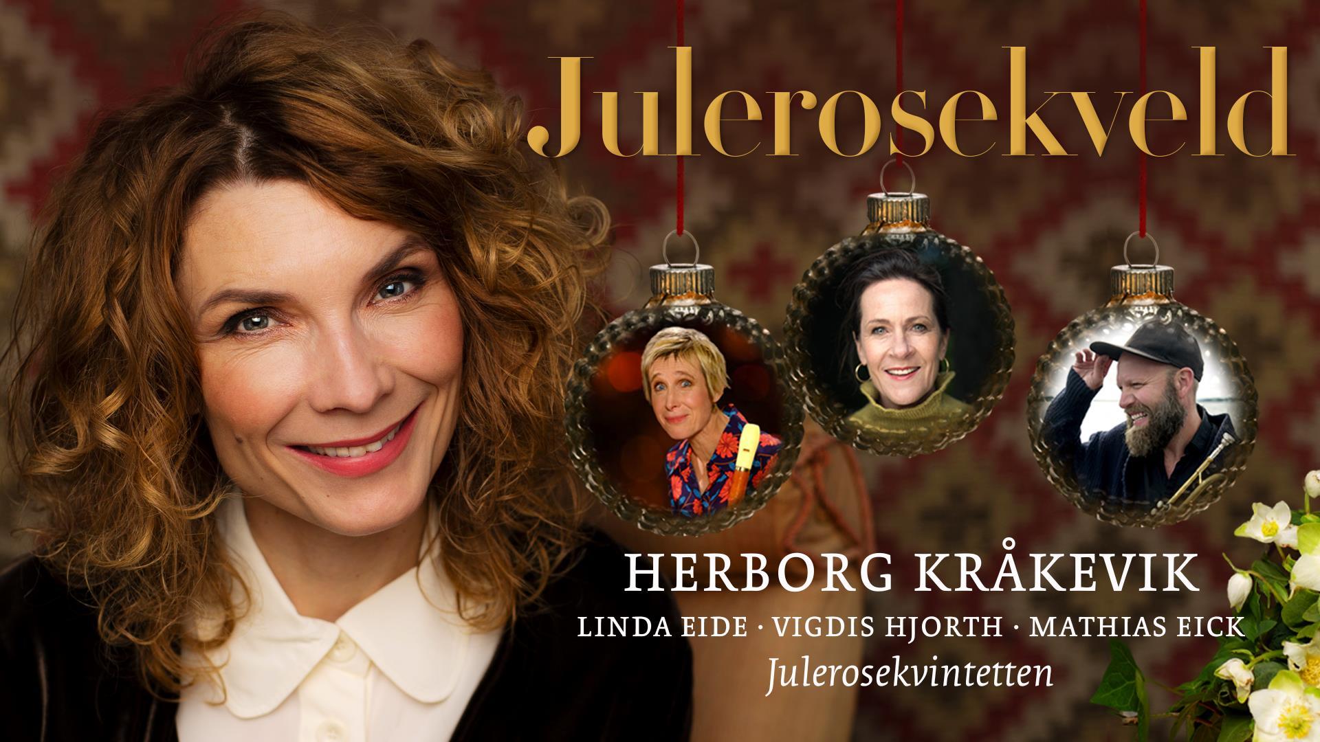 Julerosekveld med Herborg Kråkevik og gjester