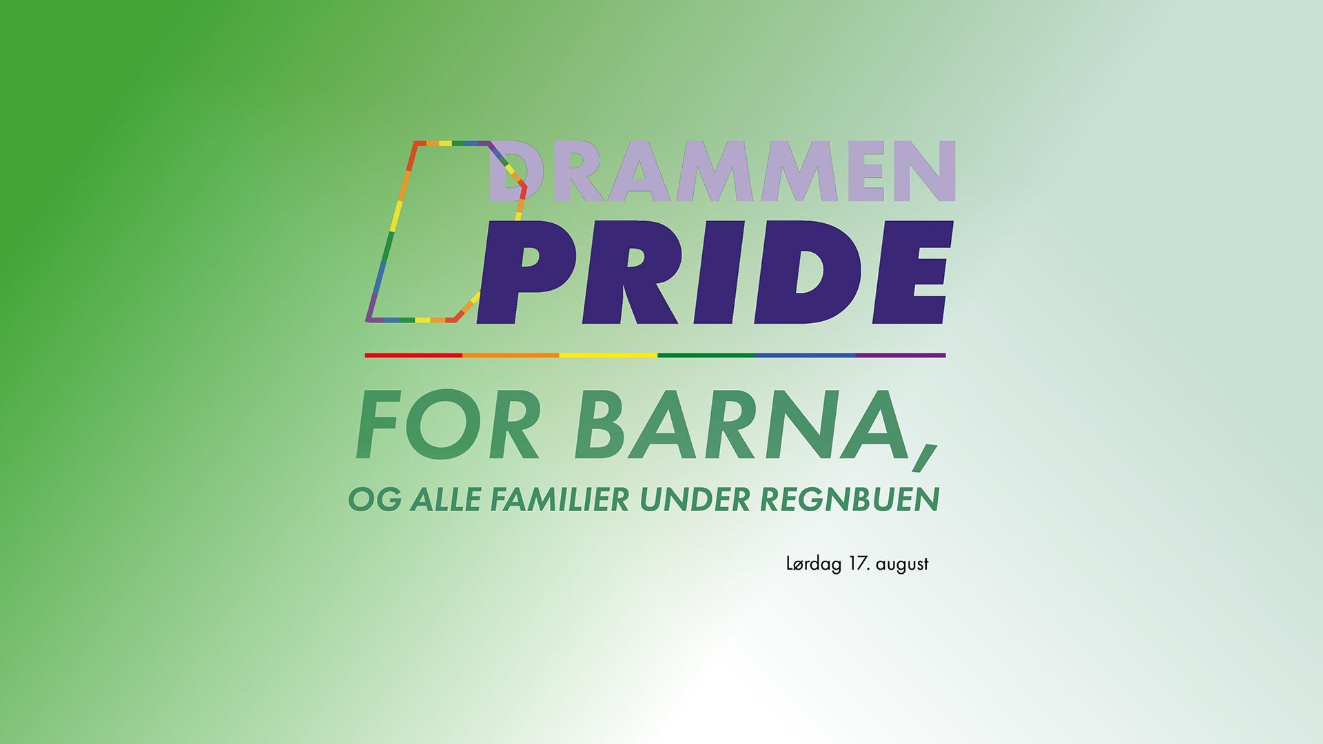 Drammen Pride for barna og familier under regnbuen